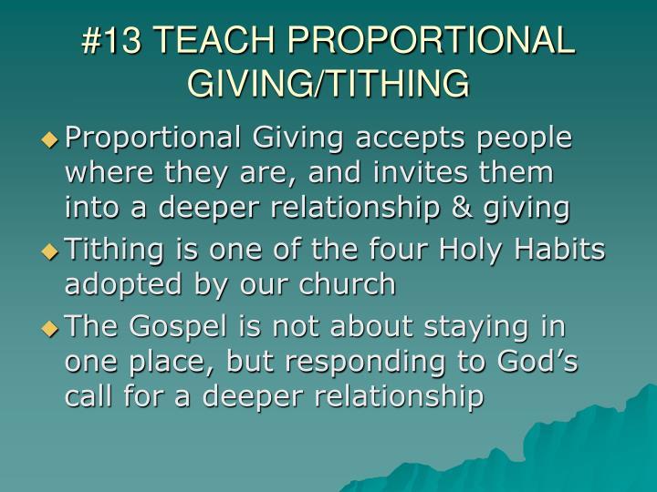 #13 TEACH PROPORTIONAL
