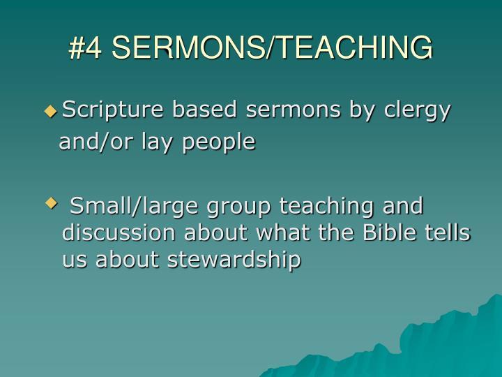 #4 SERMONS/TEACHING