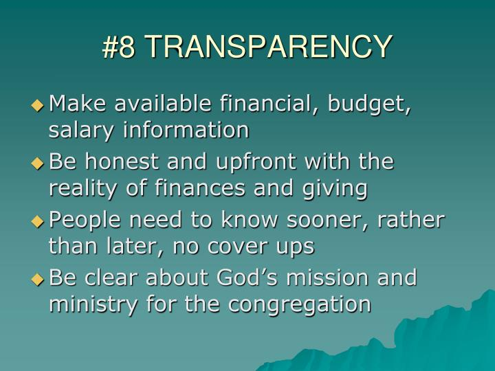 #8 TRANSPARENCY