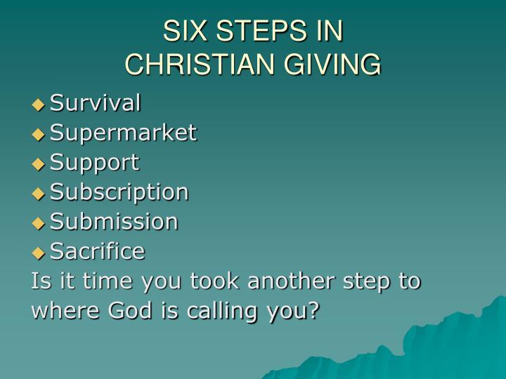 SIX STEPS IN