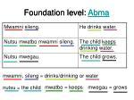 foundation level abma