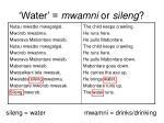 water mwamni or sileng