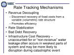 rate tracking mechanisms
