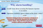 why alarm handling