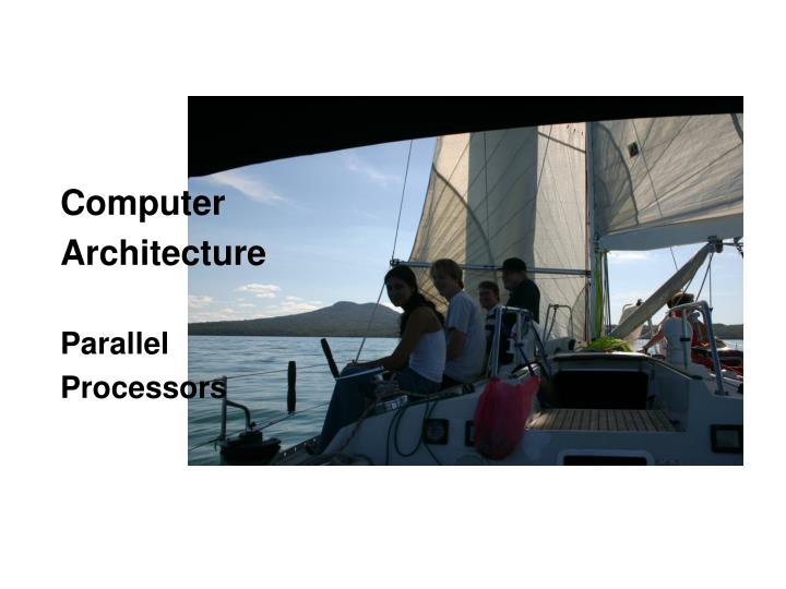 computer architecture parallel processors n.