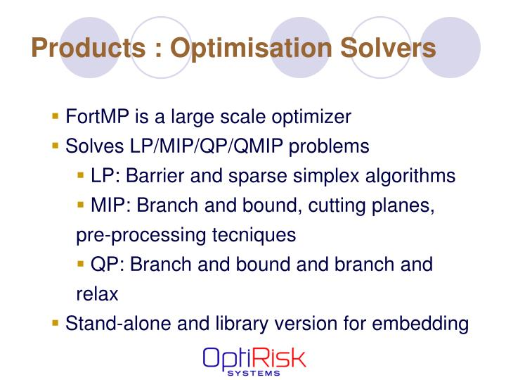 Products : Optimisation Solvers