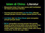 islam di china literatur