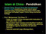 islam di china pendidikan