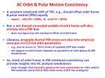 ac orbit polar motion consistency