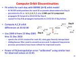 compute orbit discontinuities