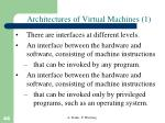 architectures of virtual machines 1