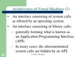 architectures of virtual machines 2