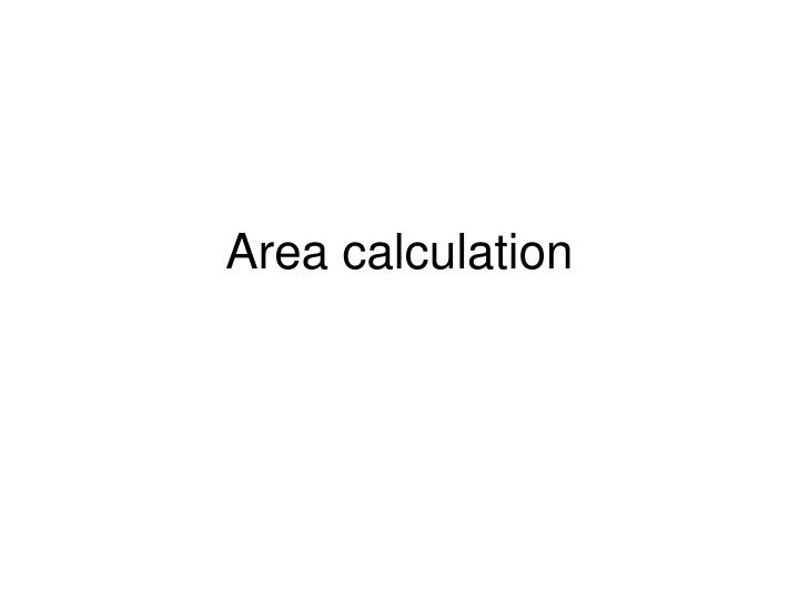 area calculation n.