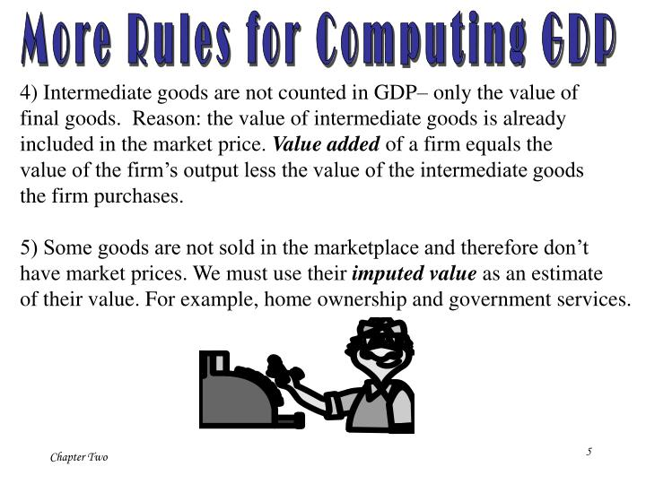 More Rules for Computing GDP