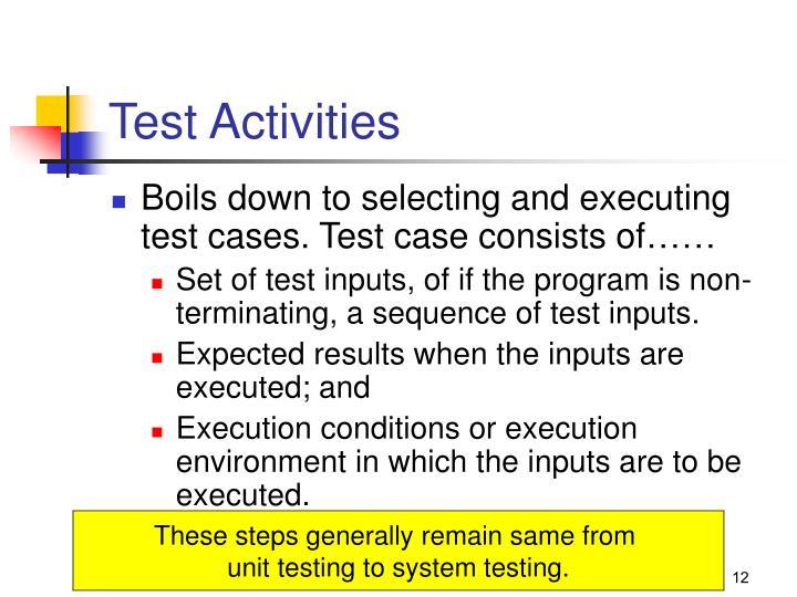 Test Activities