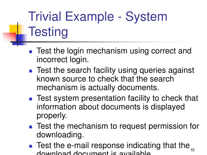 Trivial Example - System Testing