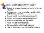 the health workforce crisis