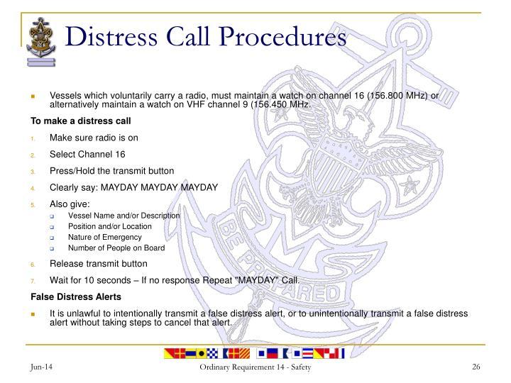 Distress Call Procedures