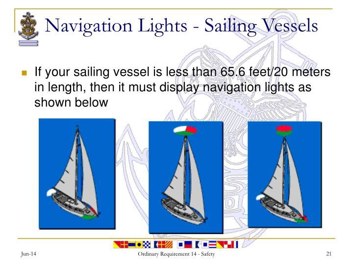 Navigation Lights - Sailing Vessels