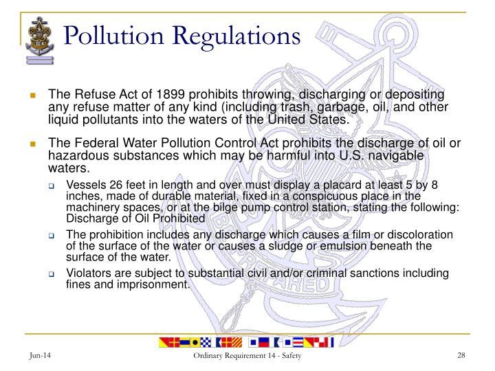 Pollution Regulations