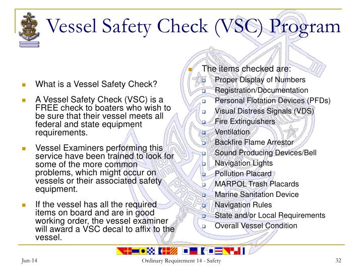 What is a Vessel Safety Check?