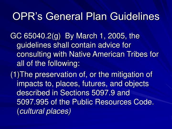 OPR's General Plan Guidelines