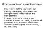 soluble organic and inorganic chemicals