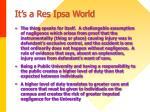 it s a res ipsa world