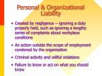 personal organizational liability