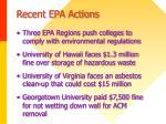 recent epa actions