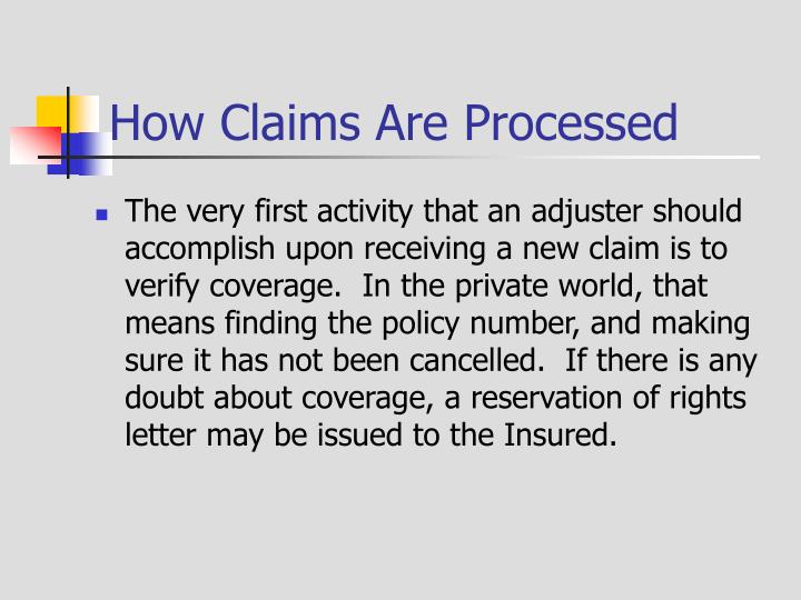 How Claims Are Processed