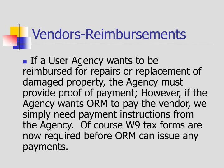 Vendors-Reimbursements