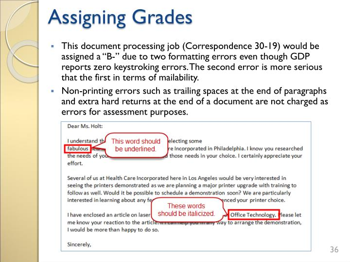 Assigning Grades