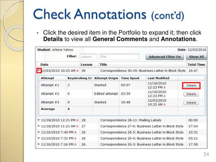 Check Annotations