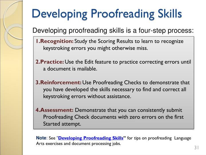 Developing Proofreading Skills