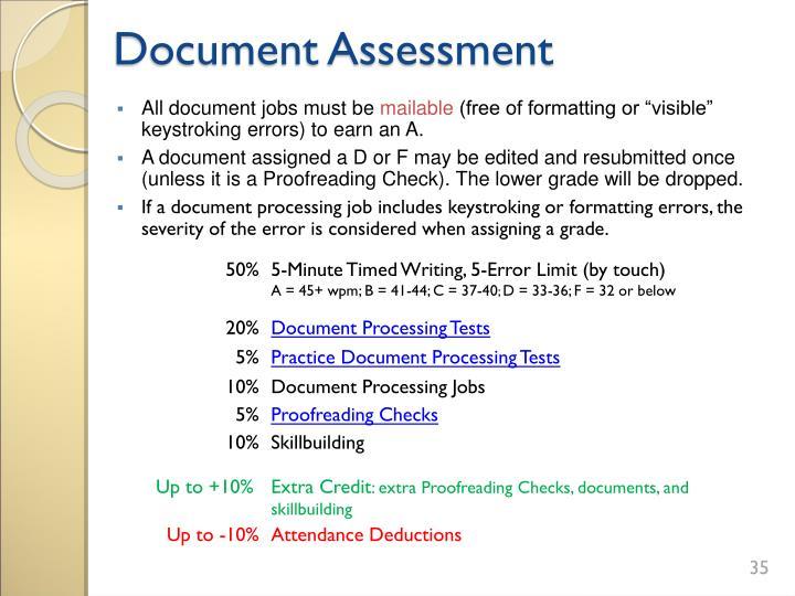 Document Assessment