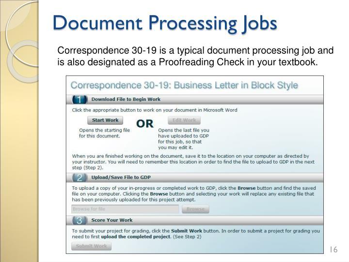 Document Processing Jobs