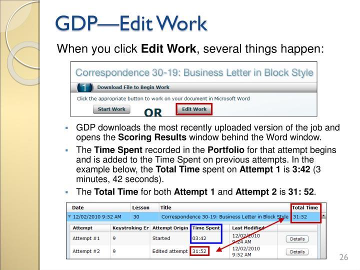 GDP—Edit Work