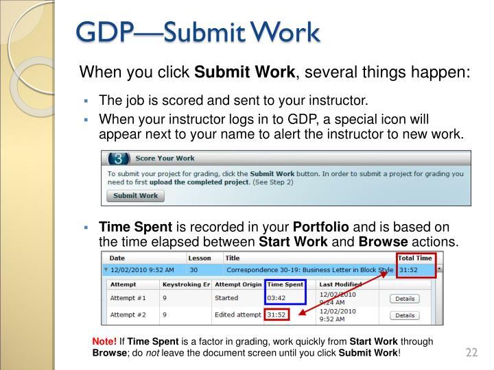 GDP—Submit Work