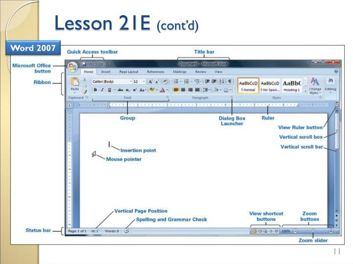 Lesson 21E