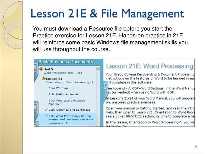 Lesson 21E & File Management