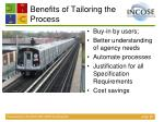 benefits of tailoring the process
