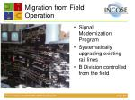 migration from field operation