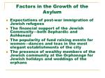 factors in the growth of the asylum
