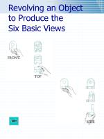 revolving an object to produce the six basic views