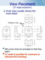view placement 3 rd angle projection
