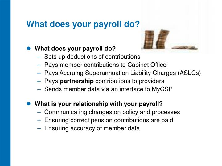 What does your payroll do?
