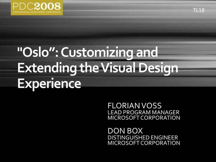 oslo customizing and extending the visual design experience n.