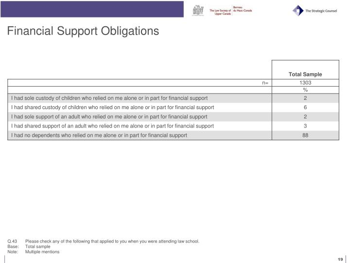 Financial Support Obligations