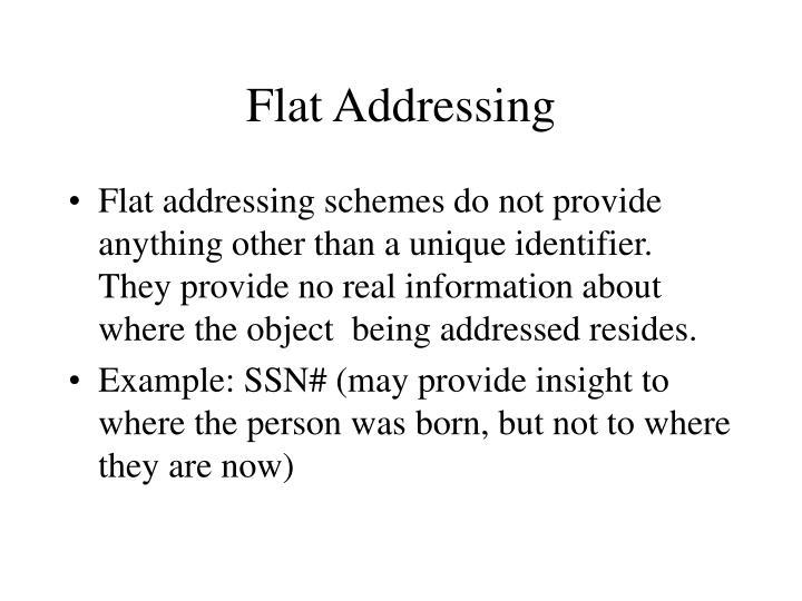 Flat Addressing